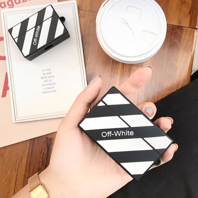 Off White Silicone Case for Airpods Pro 4
