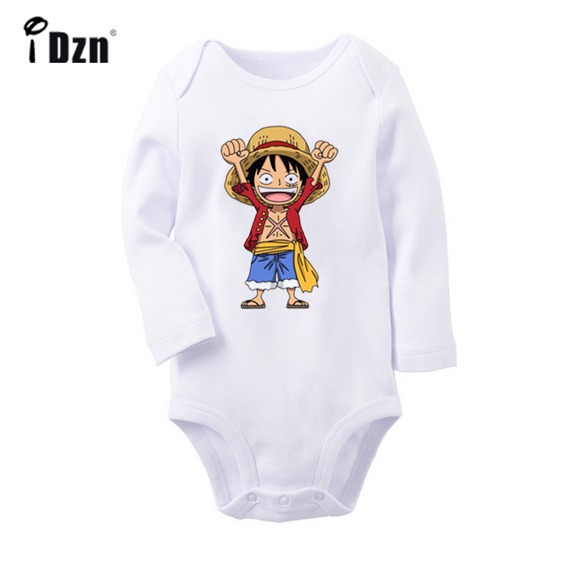 ONE PIECE Monkey D. Luffy Tony Chopper Design Newborn Baby Bodysuit Toddler Long Sleeve Onesies Jumpsuit Cotton Clothes Gift