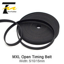 Wavetopsign MXL Terbuka Timing Belt Lebar 5 10 15 Mm Transmisi Sabuk Karet untuk CO2 Laser Engraving Cutting mesin(China)