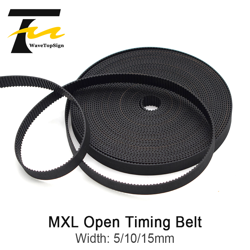 WaveTopSign <font><b>MXL</b></font> Open-Ended Timing <font><b>Belt</b></font> Width 5 10 15mm Transmission Rubber <font><b>Belts</b></font> For CO2 Laser Engraving Cutting Machine image