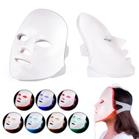 7 Colors Beauty Photon LED Facial Mask Therapy Anti Acne Whitening Wrinkle Removal Phototherapy Face Care Beauty Device