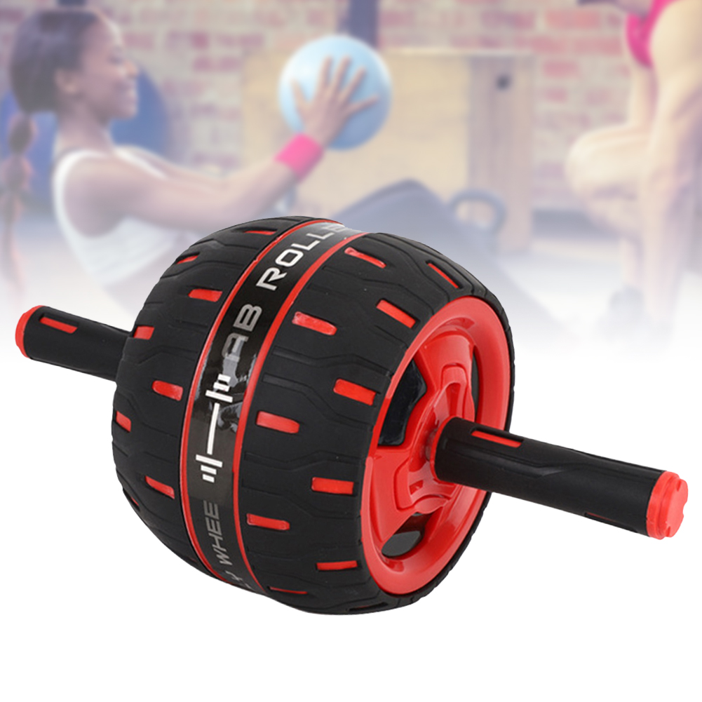 Fitness Exercise Sports Equipment Ab Wheel Roller Muscle Trainer Practical Anti Slip Home Gym Reduce Weight Automatic Springback
