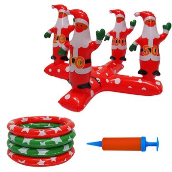 Inflatable Ring Toss Game Christmas Santa Clause Throwing Outdoor Indoor Activities Games Xmas Toys