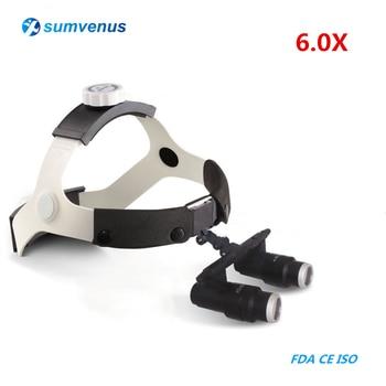 6.0X Medical Dental Headband Binocular Magnifier Kepler FD-501K High Dentistry Surgical Glasses Loupes