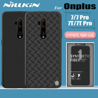Oneplus 7T 7 Pro 6T Case Funda Nillkin Carbon Synthetic Fiber Hard Full Cover Phone Back Cases for One Plus 7T Pro 7 Pro 6T CAPA