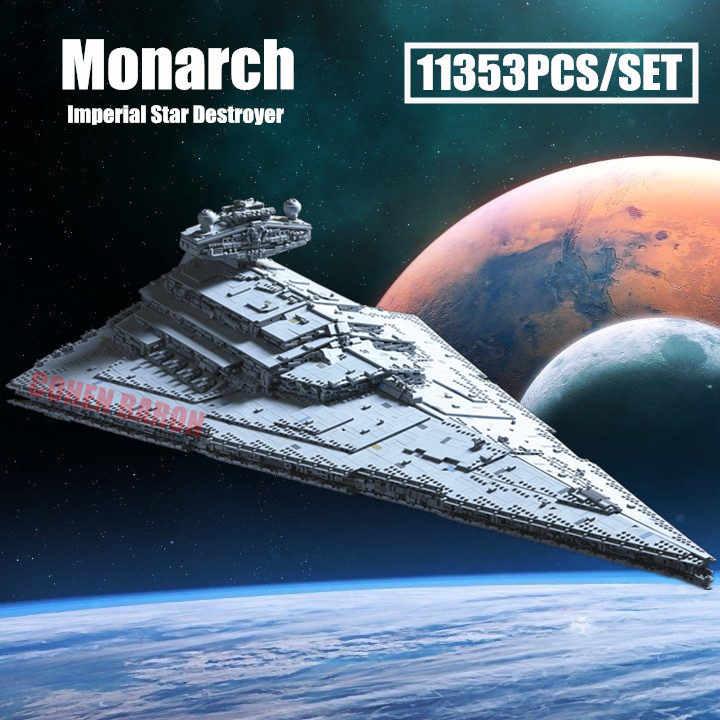 Новый MOC-23556 Звездный монарх имперский Разрушитель Fit Legoings Звездные войны строительные блоки кубики Moc 75292 подарок детям рождественские игрушки
