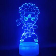 3d лампа Наруто питание от батарейки лучший подарок для детей