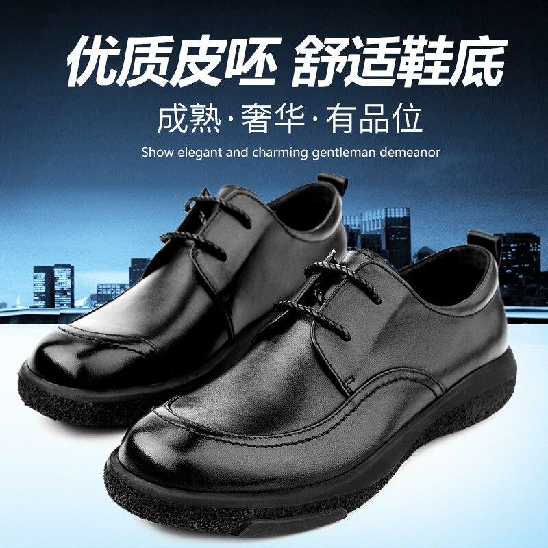 Automne chaussures en cuir décontracté mâle de haute qualité en cuir véritable chaussures hommes, à lacets hommes d'affaires chaussures, hommes chaussures habillées peau de vache - 2