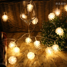 5M 40LED Pine Cone String Light Battery Powered Waterproof Outdoor Christmas Fairy Garland Garden Tree Living Room Decoration yingtouman iron small christmas tree battery powered lamp led string light christmas holiday party decoration lighting 5m 40led