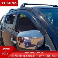Spiegel Abdeckung Für Mitsubishi L200 Triton 2006 2007 2008 2009 2010 2011 2012 2013 2014 Doppel Cab Chrom-in Chrom-Styling aus Kraftfahrzeuge und Motorräder bei