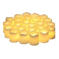 O calefator bonde da vela das velas do diodo emissor de luz 24 ele colocou o calefator bonde da vela das velas com bateria   -