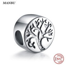 MANBU life tree beads sterling silver 925 fit pandora charms silver 925 original beads for jewelry making bangle and bracelet fc jewelry fit original pandora charms bracelet 925 sterling silver family heart tree of life mom lockets beads necklace pendant