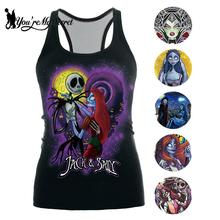 [Youre My Secret] 2019 The Nightmare Before Christmas Tank Top for Women Corpse Bride Gothic Style Halloween Sleeveless Vest