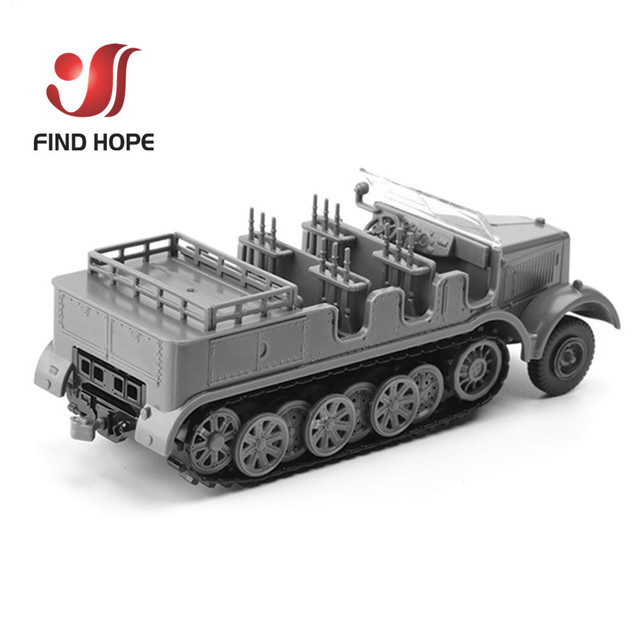 1:72 Sd.Kfz. 7 Half-Track Military Vehicle Plastic Assembly Model Armored Car +10Pcs Soldiers MODEL 4