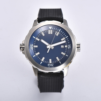 Corgeut 45MM Automatic Miyota Seagull Mechanical mens watch White / Blakc Blue dial stainless steel case rubber strap military