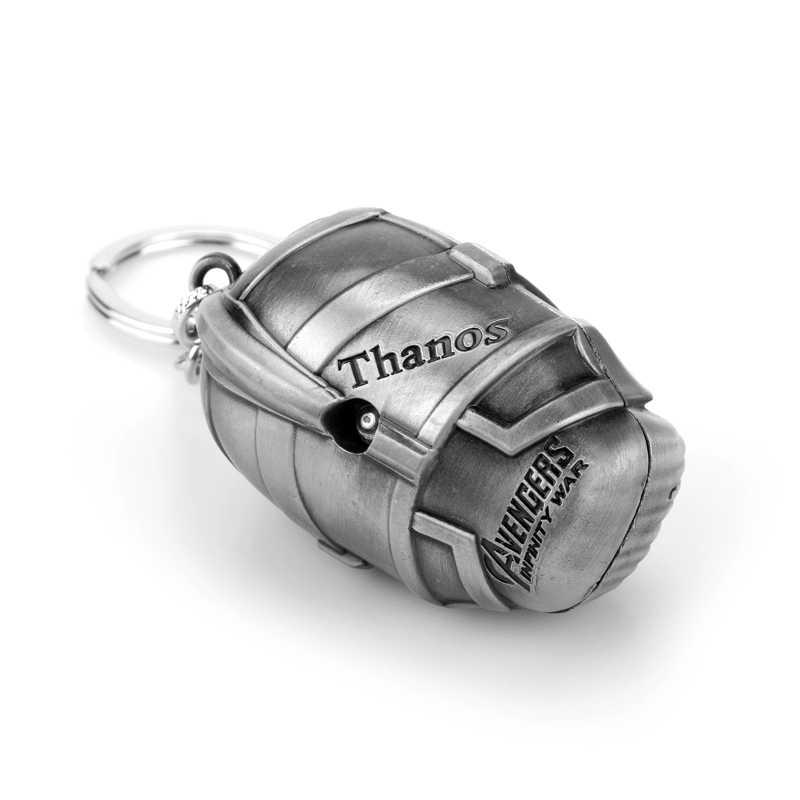Marvel Avengers 4 3D Thanos nieskończoność rękawica rękawica brelok brelok metalowy Chaveiro breloczek ozdoba biżuteria porte klucz wiolinowy prezent