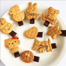 Cute Simulated Biscuits Cartoon Shape Hair Clip for Lovely Girls Hairpin Kitty Bear Geometric Shape Hair rings Hair accessories 3pcs scrunchy girls cute simulated biscuits cartoon shape hair clip headbands hairpins kids hairclip hair accessories