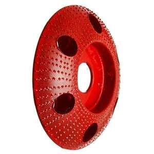 Image 5 - 110mm madeira moldar disco redondo escultura disco com furo 22mm furo roda moedor de lixar para 115 125 ângulo moedor novo