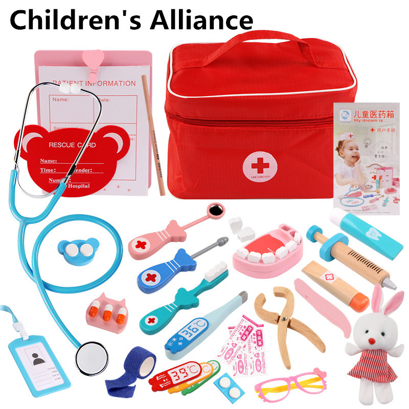 Kids Pretend Play Doctor Set Nurse Injection Medical Kit Role Play Classic Toys Simulation Doctor toys for children classi Toys image
