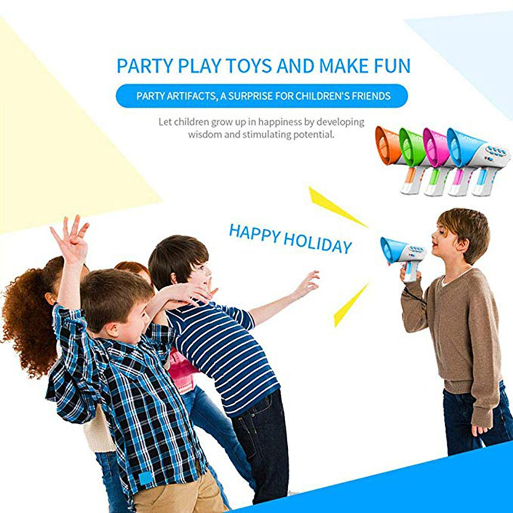 Multi Voice Changer Creative Funny Voice-changing Toys With 7 Different Voice Modifiers For Kids Gift Loudspeaker Vocal Toys image