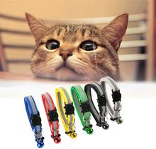 12 Colors Safety Breakaway Cat Collar Reflective Nylon Pet Puppy Small Dog Kitten Cat Collar with Colorful Bell 19-32cm 1.0cm colorful cute dog pet glossy reflective collar safety buckle bell strap 6 colors adjustable strap