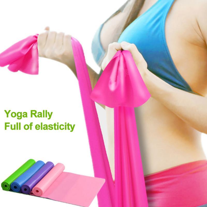 1.5M Yoga Stretch High Elastic Band Fitness Men And Women Resistance Strength Training Gymnastics Trainer Fitness Yoga Belt