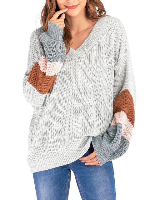 2020 Spring and Winter Sweater New Style Popular Fashion V-neck Knit Shirt Large Big Long Sleeves Sweater Woollen Tops Sweaters 2