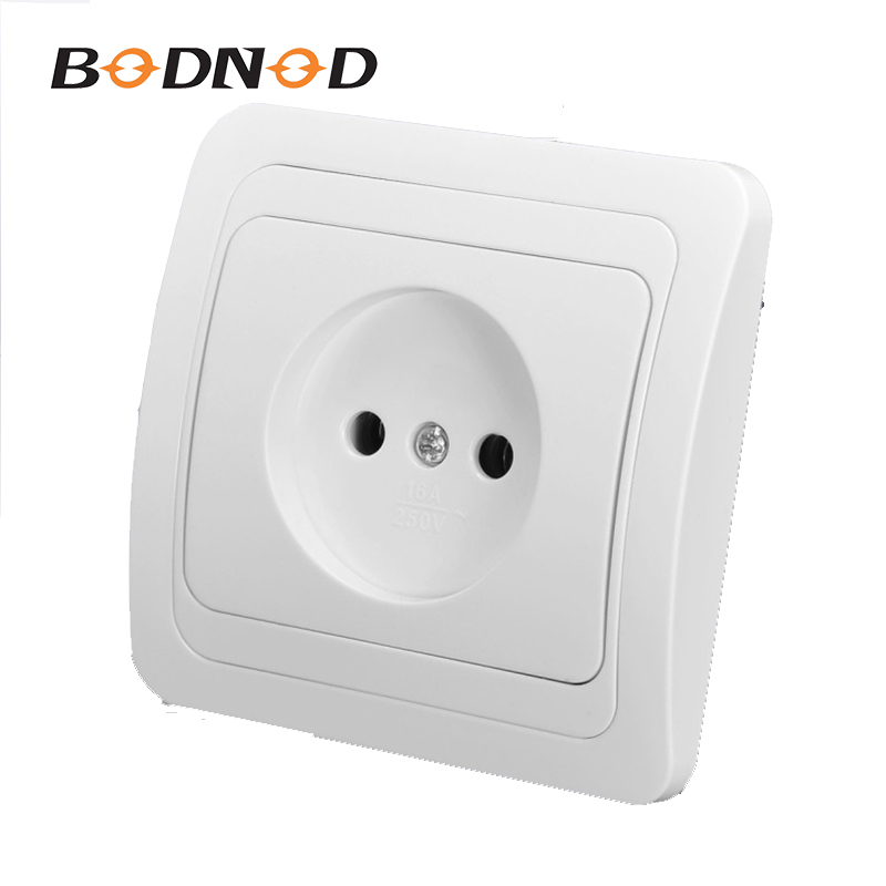 Wall Socket One Socket White Color Socket Without Earth European DIY Socket 10A 250V Free Shipping Legrand Schneider Livolo(China)