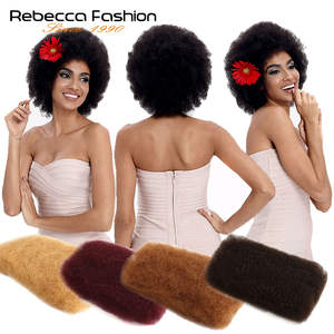 Remy-Hair No-Weft 1-Bundle Natural-Color Kinky Bulk Rebecca Brazilian Afro for Braiding