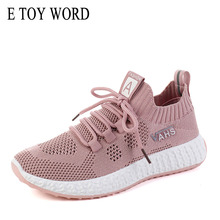 E TOY WORD Small white shoes Female 2019 new casual sneakers women wild running mesh breathable