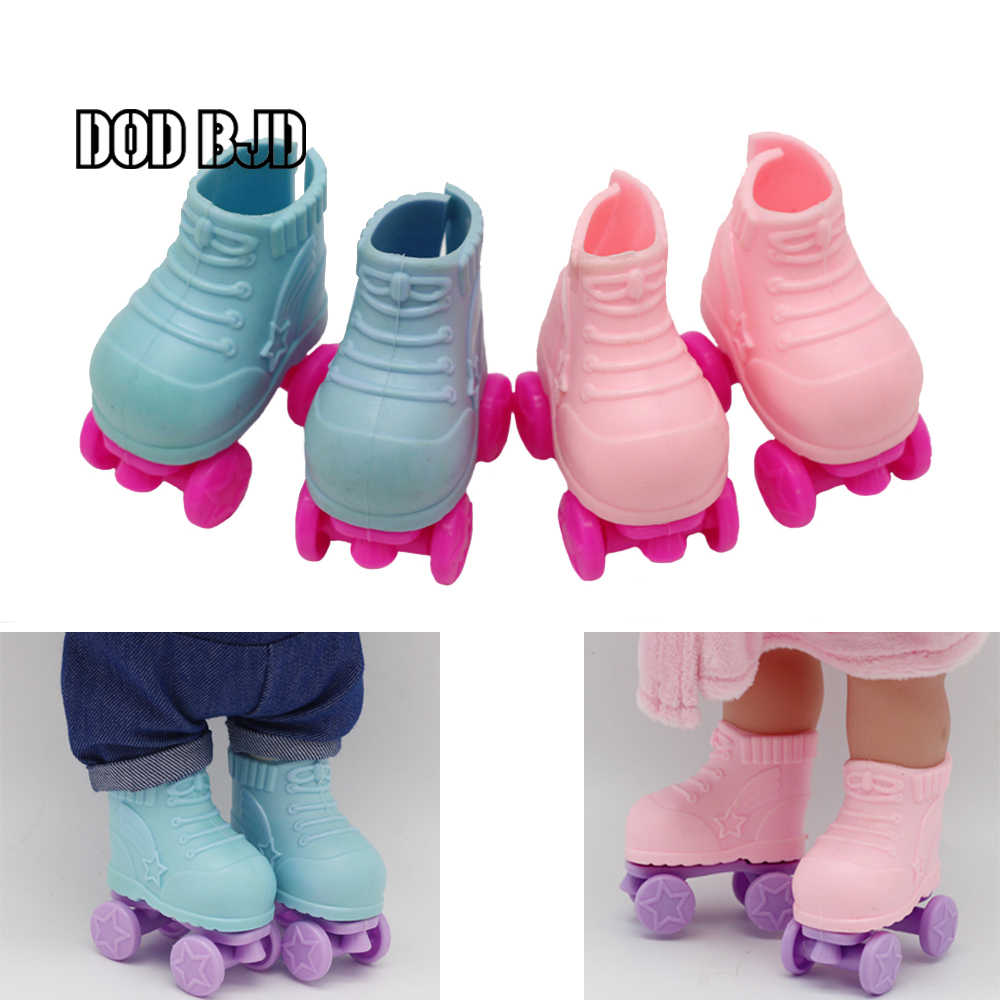 DOD BJD Doll Roller Skates for 14 inch girls Doll Boots Fit Plush EXO Dolls Shoes Fashion Gifts for Girl Doll Accessories
