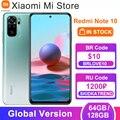 Глобальная версия Xiaomi Redmi Примечание 10 мобильный телефон, 4 Гб RAM, 64 / 128 ГБ ROM Snapdragon 678 Octa Core 5000 мАч батарея 33 Вт Быстрая зарядка