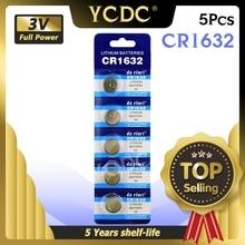 YCDC 5x CR1632 CR1632 ECR1632 DL1632 KCR1632 LM1632 3VลิเธียมLi Ionแบตเตอรี่ปุ่มของเล่น 1632 แบตเตอรี่Retail LOT
