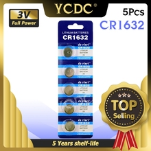 YCDC 5x CR1632 CR1632 ECR1632 DL1632 KCR1632 LM1632 3v lithium li ion battery Cell Button Toys 1632 Batteries Card Retail LOT