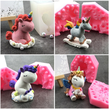 New Silicone Animal 3D Mold Unicorn Shape Ice Cube Candy Chocolate Cake Cookie Cupcake Molds Soap Mould Baking Pan Pastry Tools ttlife 3d daisy flower shape silicone mold pastry cupcake chocolate soap bakeware mould fondant cake sugarcraft decoration tools