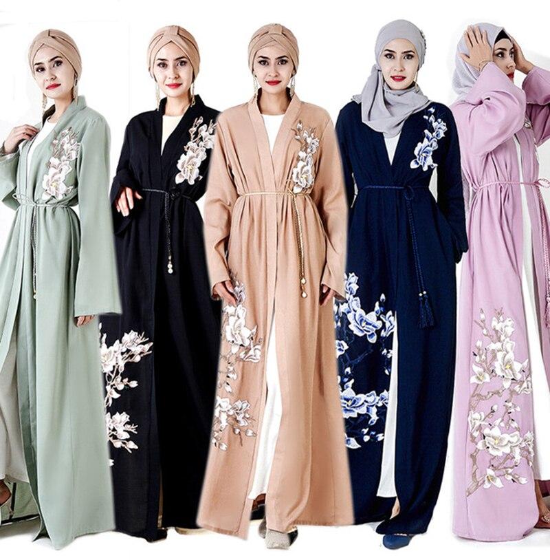 abaya dubai Embroidered cardigan Dubai robes long dresses
