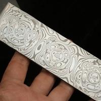 HRC60 62 Damascus steel DIY knife making damascus steel Knife blade blank