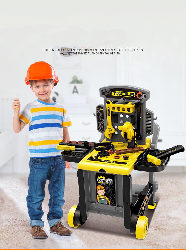 Pretend Toolbox Kit Educational Toys Simulation Repair Tools  Drill Plastic Game Learning Engineering Puzzle Toys Gifts For Boy