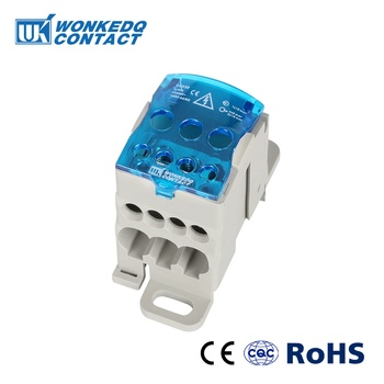 UKK 80A Din Rail Terminal Blocks One in several out Power Distribution Block Box Universal Electric Wire Connector Junction Box 2 in 8 out terminal blocks din rail and panel mounting power distribution module board spring terminal block