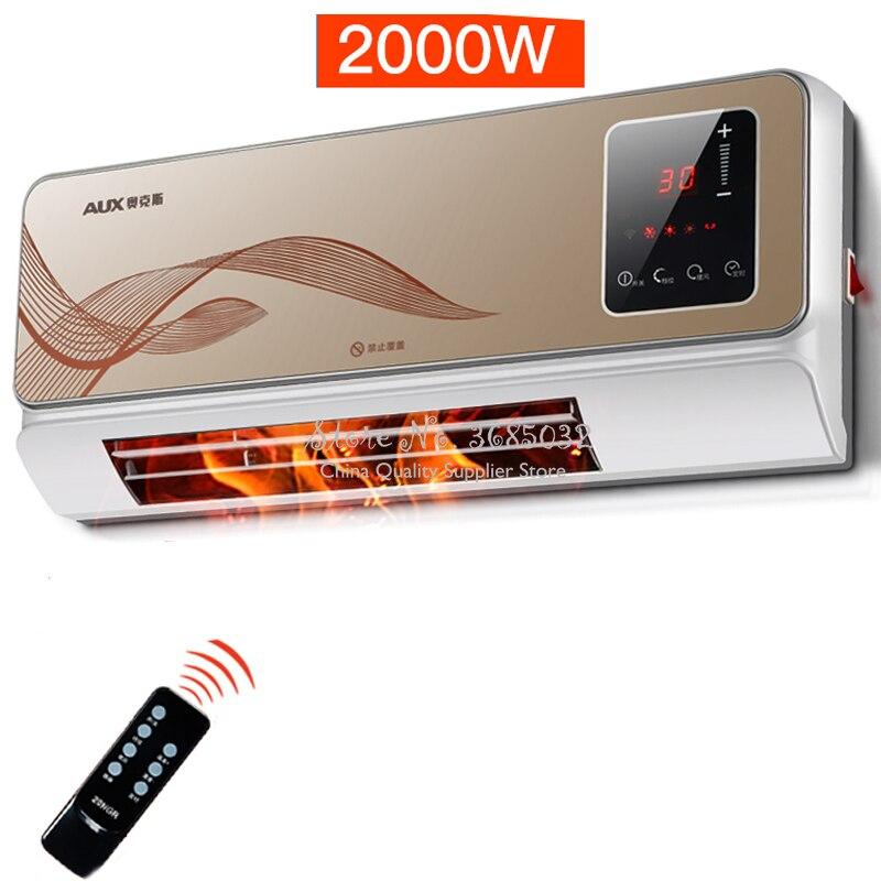 Настенный Электрический обогреватель для ванной комнаты, водонепроницаемый телеконтрол, машина для кондиционирования воздуха, экономия т...