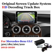 Rückansicht Kamera Für Mercedes-Benz GLC 300/180/260/200 2012-2020 Adapter Original Bildschirm upgrade Display Backup Kamera Decoder
