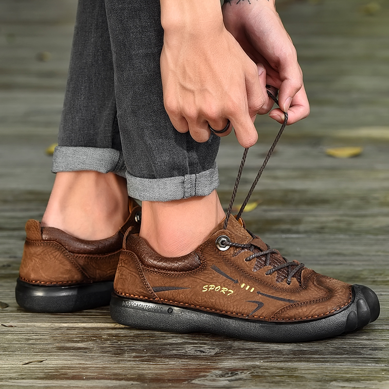 2019 style fashion men 39 s shoes casual genuine leather cow male flats sneakers nice shoe man comfortable shoes for men hot sale in Men 39 s Casual Shoes from Shoes