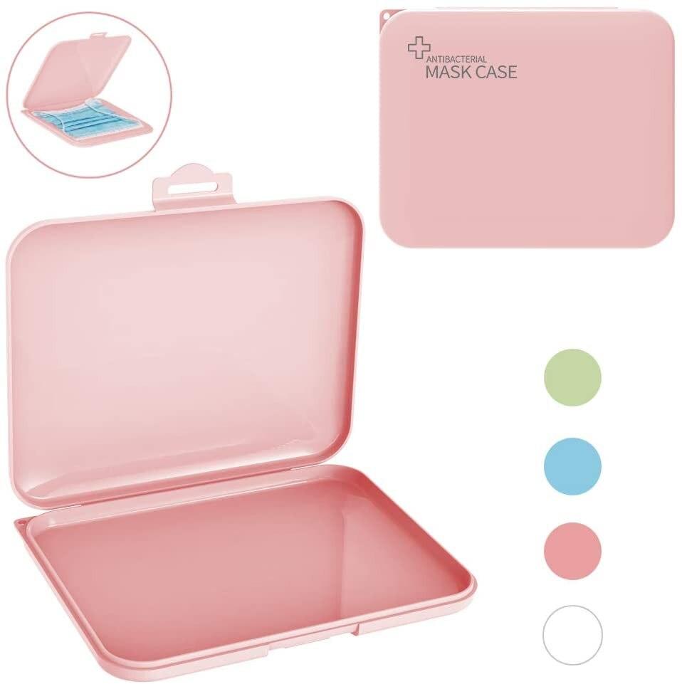 แบบพกพาFace Maskกล่องเก็บกระเป๋าป้องกันมลพิษไม่รวมหน้ากากกล่องสีเขียว/สีชมพู/สีขาว/สีฟ้าการจั...