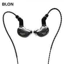 Blon BL-01 bl01 10mm biologia fibra diafragma driver na orelha fone de ouvido dj executando fones destacável 2pin cabo BL-03 bl03 bl05
