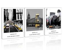 Black and White City Wall Art Decor Times Square New York Canvas Painting Kitchen Street Bridge Prints Pictures for Living Room цена