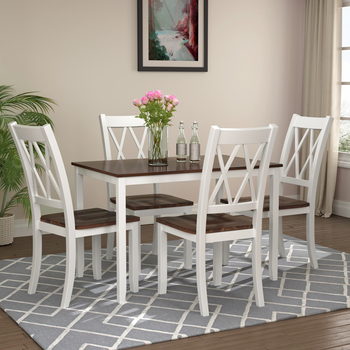 5 Pieces Dining Table Set Kitchen Furniture Modern Home Simple Fast Shipping