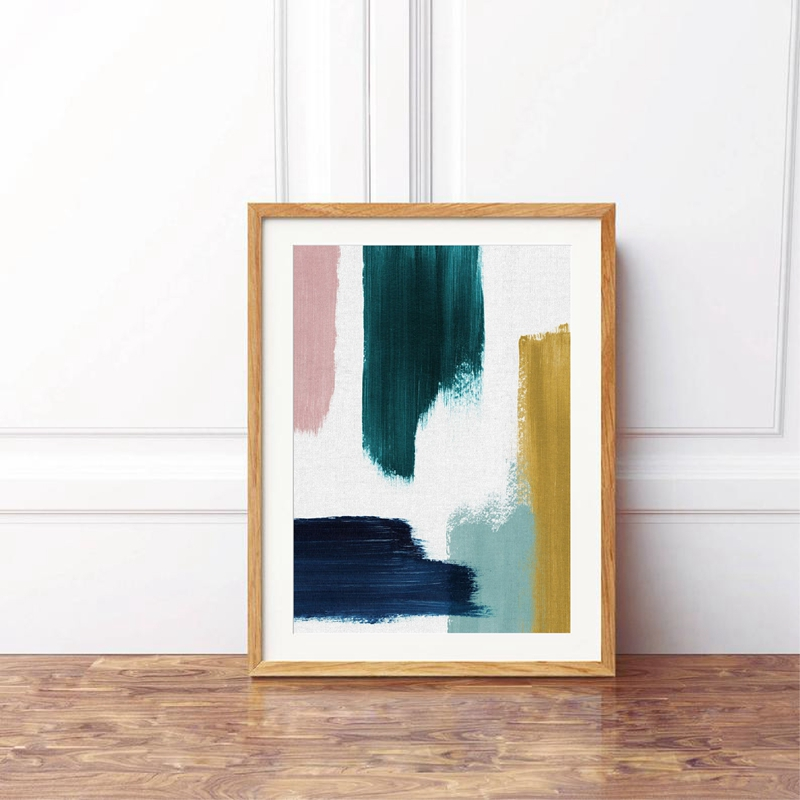 CONTEMPORY BLUE ABSTRACT DESIGN CANVAS PRINT PICTURE WALL ART  FREE DELIVERY