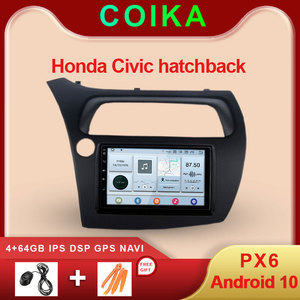 COIKA Android 10 System Car GPS Navi Radio For Honda Civic 2006-2012 WIFI DSP 4+64GB Two DIN Head Unit Multimedia Player 720P