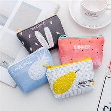 Mode Frauen Kinder Cartoon Geldbörse Kaninchen Wassermelone Ananas Birne Kleine Brieftasche Mini Tasche Geld Tasche Schlüssel Karte Halter Geschenk