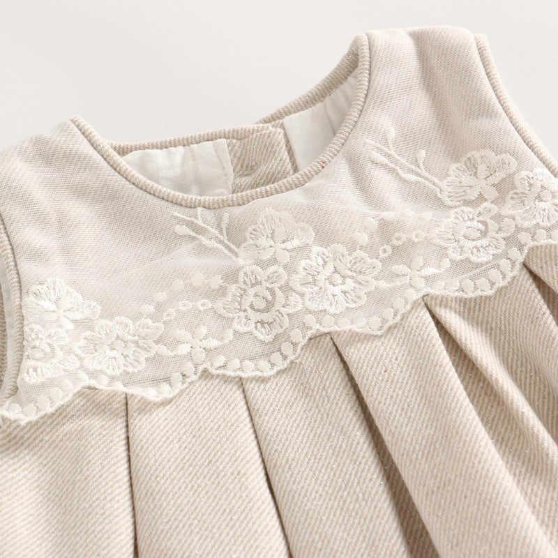 Indah Masa Kecil 3-1 Bayi Gadis Pakaian Baru Lahir Golden Berkerut Rok Pakaian Set Bayi Lengan Panjang Renda Pakaian